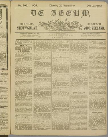 De Zeeuw. Christelijk-historisch nieuwsblad voor Zeeland 1906-09-25