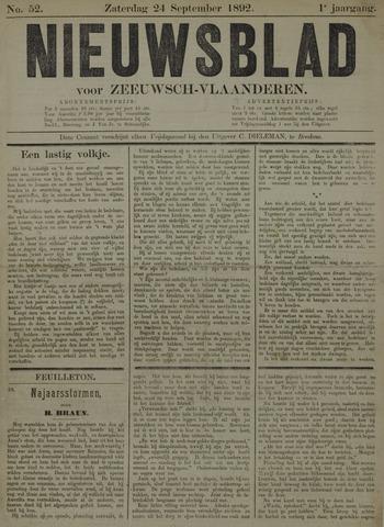 Nieuwsblad voor Zeeuwsch-Vlaanderen 1892-09-24