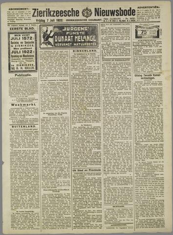 Zierikzeesche Nieuwsbode 1922-07-07