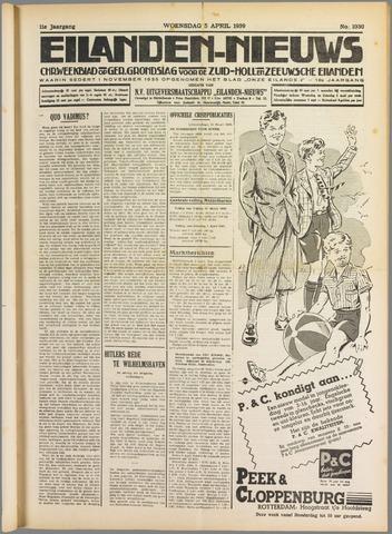 Eilanden-nieuws. Christelijk streekblad op gereformeerde grondslag 1939-04-05