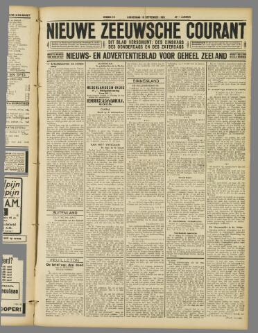 Nieuwe Zeeuwsche Courant 1929-09-19