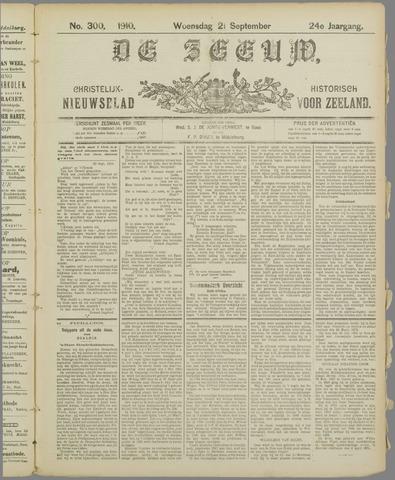 De Zeeuw. Christelijk-historisch nieuwsblad voor Zeeland 1910-09-21