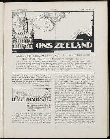 Ons Zeeland / Zeeuwsche editie 1926-10-09