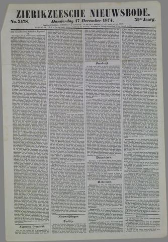 Zierikzeesche Nieuwsbode 1874-12-17