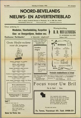 Noord-Bevelands Nieuws- en advertentieblad 1953-10-24