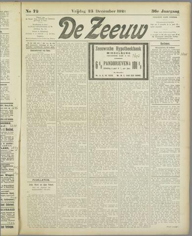 De Zeeuw. Christelijk-historisch nieuwsblad voor Zeeland 1921-12-23
