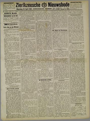 Zierikzeesche Nieuwsbode 1921-04-18