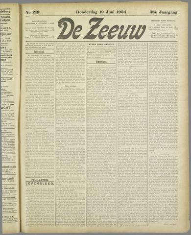 De Zeeuw. Christelijk-historisch nieuwsblad voor Zeeland 1924-06-19