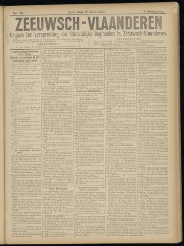 Luctor et Emergo. Antirevolutionair nieuws- en advertentieblad voor Zeeland / Zeeuwsch-Vlaanderen. Orgaan ter verspreiding van de christelijke beginselen in Zeeuwsch-Vlaanderen 1918-06-22