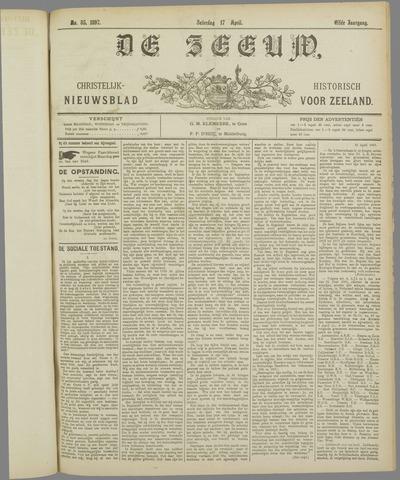 De Zeeuw. Christelijk-historisch nieuwsblad voor Zeeland 1897-04-17
