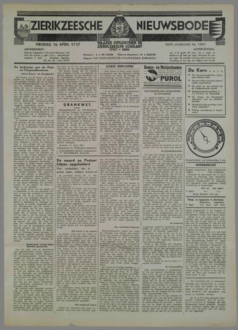 Zierikzeesche Nieuwsbode 1937-04-16