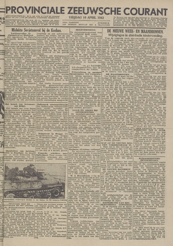 Provinciale Zeeuwse Courant 1943-04-16