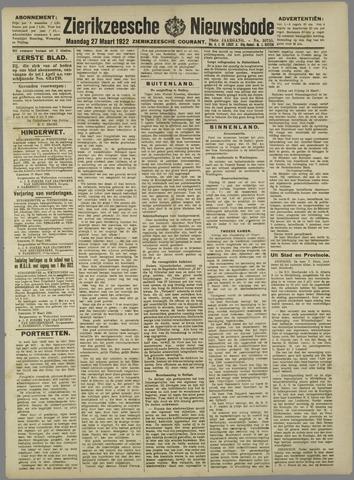 Zierikzeesche Nieuwsbode 1922-03-27