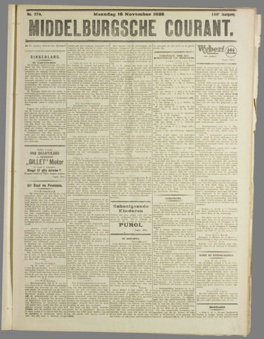 Middelburgsche Courant 1925-11-16