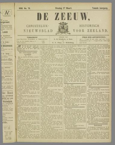 De Zeeuw. Christelijk-historisch nieuwsblad voor Zeeland 1888-03-27