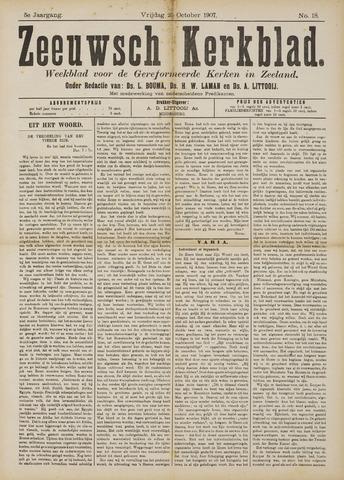 Zeeuwsche kerkbode, weekblad gewijd aan de belangen der gereformeerde kerken/ Zeeuwsch kerkblad 1907-10-25