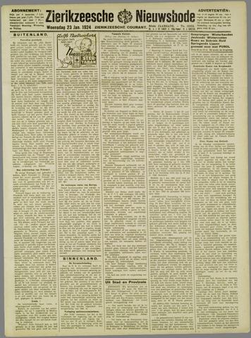 Zierikzeesche Nieuwsbode 1924-01-23
