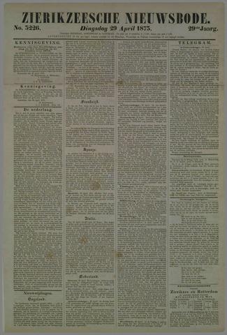 Zierikzeesche Nieuwsbode 1873-04-29