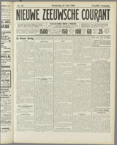Nieuwe Zeeuwsche Courant 1916-07-27