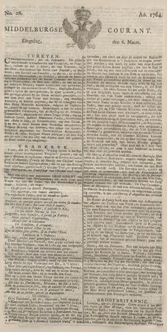Middelburgsche Courant 1764-03-06