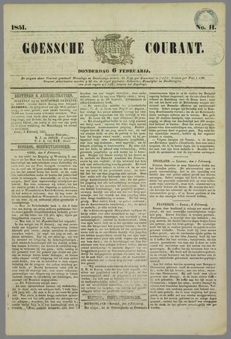 Goessche Courant 1851-02-06