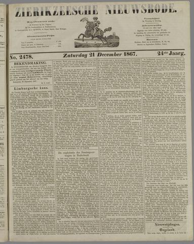 Zierikzeesche Nieuwsbode 1867-12-21