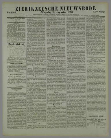 Zierikzeesche Nieuwsbode 1888-08-21