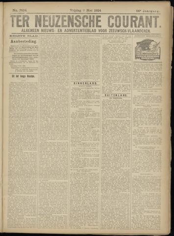 Ter Neuzensche Courant. Algemeen Nieuws- en Advertentieblad voor Zeeuwsch-Vlaanderen / Neuzensche Courant ... (idem) / (Algemeen) nieuws en advertentieblad voor Zeeuwsch-Vlaanderen 1924-05-09