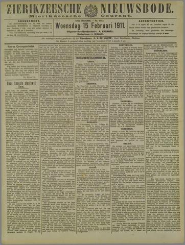Zierikzeesche Nieuwsbode 1911-02-15