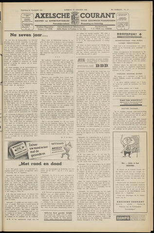 Axelsche Courant 1952-08-30