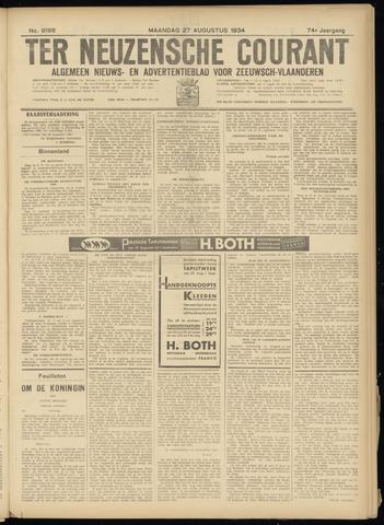 Ter Neuzensche Courant. Algemeen Nieuws- en Advertentieblad voor Zeeuwsch-Vlaanderen / Neuzensche Courant ... (idem) / (Algemeen) nieuws en advertentieblad voor Zeeuwsch-Vlaanderen 1934-08-27