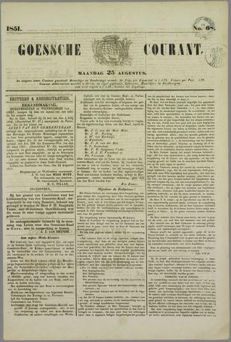 Goessche Courant 1851-08-25