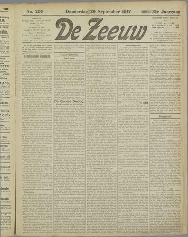 De Zeeuw. Christelijk-historisch nieuwsblad voor Zeeland 1917-09-20