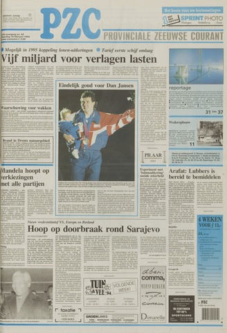 Provinciale Zeeuwse Courant 1994-02-19