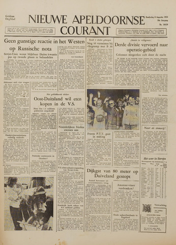 Watersnood documentatie 1953 - kranten 1953-08-06