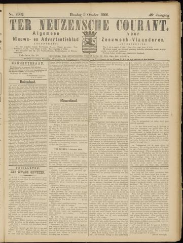 Ter Neuzensche Courant. Algemeen Nieuws- en Advertentieblad voor Zeeuwsch-Vlaanderen / Neuzensche Courant ... (idem) / (Algemeen) nieuws en advertentieblad voor Zeeuwsch-Vlaanderen 1906-10-09