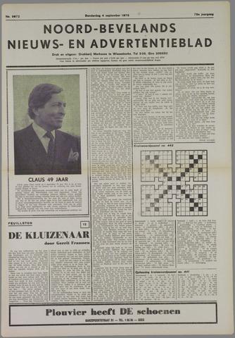 Noord-Bevelands Nieuws- en advertentieblad 1975-09-04