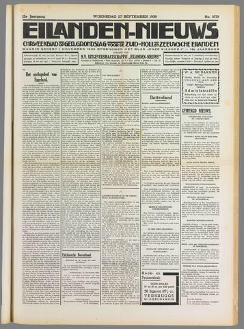 Eilanden-nieuws. Christelijk streekblad op gereformeerde grondslag 1939-09-27