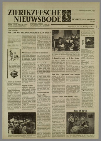 Zierikzeesche Nieuwsbode 1965-01-14