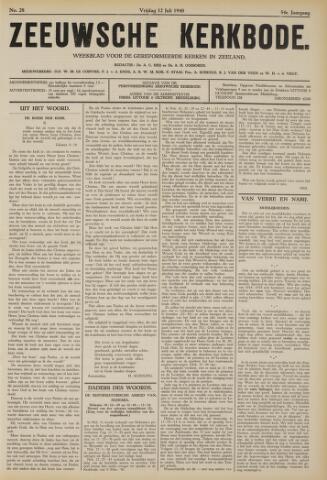 Zeeuwsche kerkbode, weekblad gewijd aan de belangen der gereformeerde kerken/ Zeeuwsch kerkblad 1940-07-12
