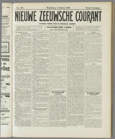 Nieuwe Zeeuwsche Courant 1908-10-01