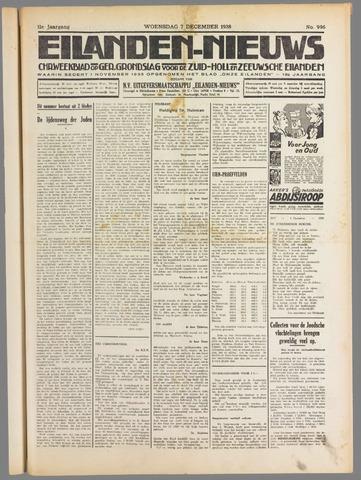Eilanden-nieuws. Christelijk streekblad op gereformeerde grondslag 1938-12-07