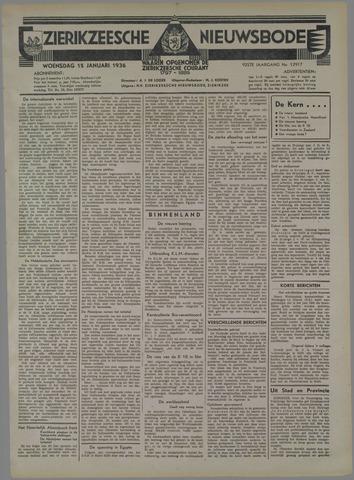 Zierikzeesche Nieuwsbode 1936-01-15