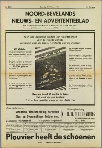 Noord-Bevelands Nieuws- en advertentieblad 1953-10-31