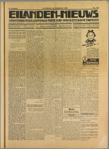 Eilanden-nieuws. Christelijk streekblad op gereformeerde grondslag 1936-02-29