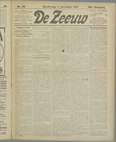 De Zeeuw. Christelijk-historisch nieuwsblad voor Zeeland 1915-11-04