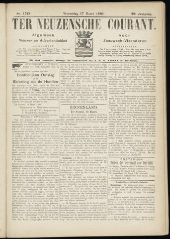 Ter Neuzensche Courant. Algemeen Nieuws- en Advertentieblad voor Zeeuwsch-Vlaanderen / Neuzensche Courant ... (idem) / (Algemeen) nieuws en advertentieblad voor Zeeuwsch-Vlaanderen 1880-03-17