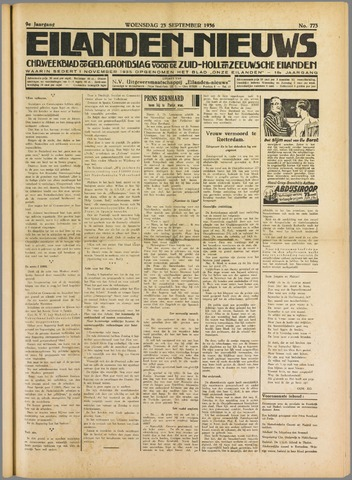 Eilanden-nieuws. Christelijk streekblad op gereformeerde grondslag 1936-09-23