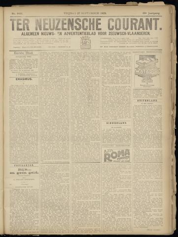 Ter Neuzensche Courant. Algemeen Nieuws- en Advertentieblad voor Zeeuwsch-Vlaanderen / Neuzensche Courant ... (idem) / (Algemeen) nieuws en advertentieblad voor Zeeuwsch-Vlaanderen 1929-09-27