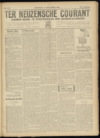 Ter Neuzensche Courant. Algemeen Nieuws- en Advertentieblad voor Zeeuwsch-Vlaanderen / Neuzensche Courant ... (idem) / (Algemeen) nieuws en advertentieblad voor Zeeuwsch-Vlaanderen 1932-12-12